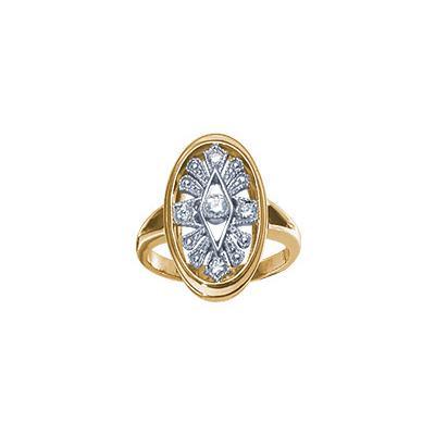 Золотое кольцо Ювелирное изделие 15472RS кольцо алмаз холдинг женское золотое кольцо с бриллиантами и рубином alm13237661 19