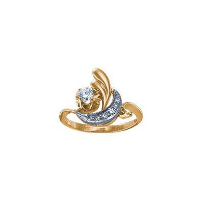 Золотое кольцо Ювелирное изделие 15562RS кольцо алмаз холдинг женское золотое кольцо с бриллиантами и рубином alm13237661 19