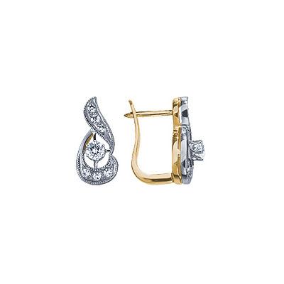 Золотые серьги Ювелирное изделие 15583RS серьги из серебра альфа карат 79864