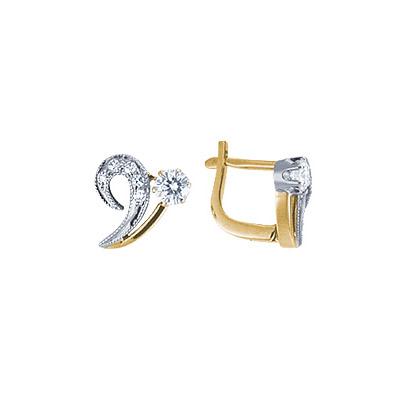 Золотые серьги Ювелирное изделие 15589RS