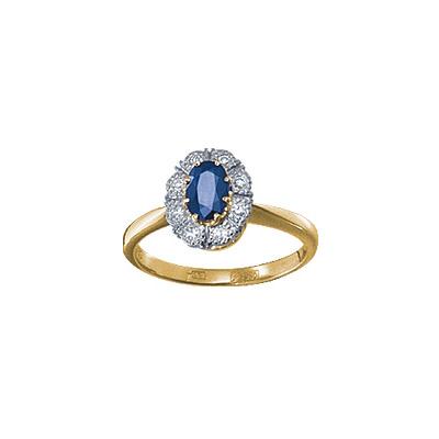 Золотое кольцо Ювелирное изделие 15607RS кольцо алмаз холдинг женское золотое кольцо с бриллиантами и рубином alm13237661 19