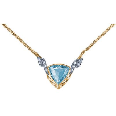 Золотое колье Ювелирное изделие 15721RS fashion золотое колье с бриллиантами 6nl0016 40