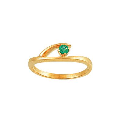 Золотое кольцо Ювелирное изделие 15876RS кольцо с изумрудом золотое к10616и