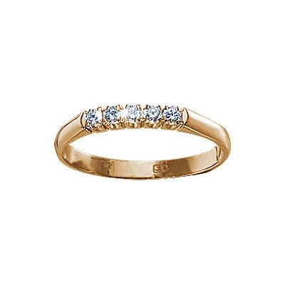 Золотое кольцо Ювелирное изделие 17013RS кольцо алмаз холдинг женское золотое кольцо с бриллиантами и рубином alm13237661 19