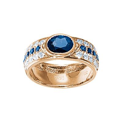 Золотое кольцо Ювелирное изделие 17089RS кольцо алмаз холдинг женское золотое кольцо с бриллиантами и рубином alm13237661 19