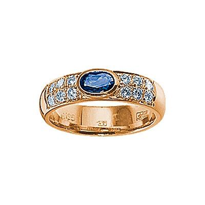 Золотое кольцо Ювелирное изделие 17179RS кольцо кюп женское золотое кольцо с бриллиантами и сапфиром alm1850202213 19