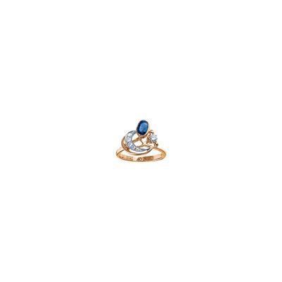 Золотое кольцо Ювелирное изделие 17209RS кольцо алмаз холдинг женское золотое кольцо с бриллиантами и рубином alm13237661 19