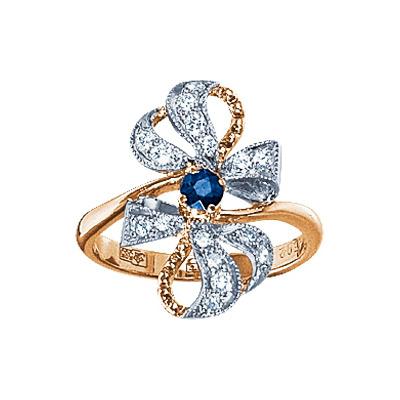 Золотое кольцо Ювелирное изделие 17372RS кольцо алмаз холдинг женское золотое кольцо с куб циркониями alm1200203515л 18 5