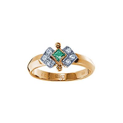 Золотое кольцо Ювелирное изделие 17390RS цена