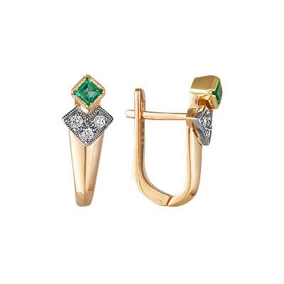 Золотые серьги Ювелирное изделие 17391RS серьги jv золотые серьги с бриллиантами e20070c db wg