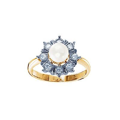 Золотое кольцо Ювелирное изделие 17631RS кольцо алмаз холдинг женское золотое кольцо с бриллиантами и рубином alm13237661 19