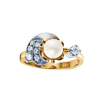 Золотое кольцо Ювелирное изделие 17634RS кольцо алмаз холдинг женское золотое кольцо с бриллиантами и рубином alm13237661 19