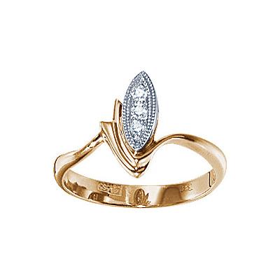 Золотое кольцо Ювелирное изделие 17643RS