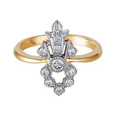 Золотое кольцо Ювелирное изделие 17690RS