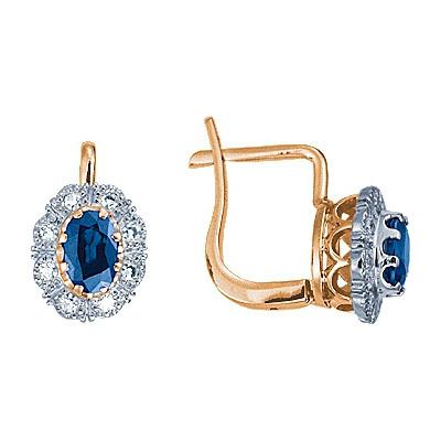 Золотые серьги Ювелирное изделие 17697RS серьги гвоздики лукас золотые серьги с бриллиантами и сапфирами e01 d bs 003bs2