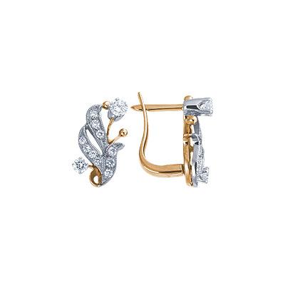 Золотые серьги Ювелирное изделие 17740RS