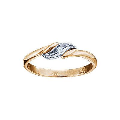 Золотое кольцо Ювелирное изделие 17761RS кольцо алмаз холдинг женское золотое кольцо с бриллиантами и рубином alm13237661 19
