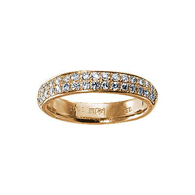 Золотое кольцо Ювелирное изделие 17917RS кольцо алмаз холдинг женское золотое кольцо с бриллиантами и рубином alm13237661 19