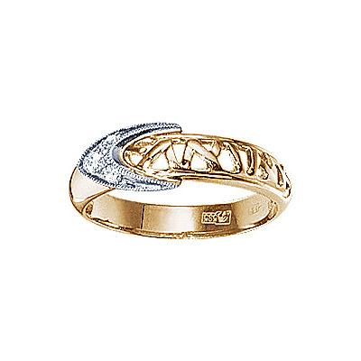 Золотое кольцо Ювелирное изделие 17946RS кольцо алмаз холдинг женское золотое кольцо с бриллиантами и рубином alm13237661 19
