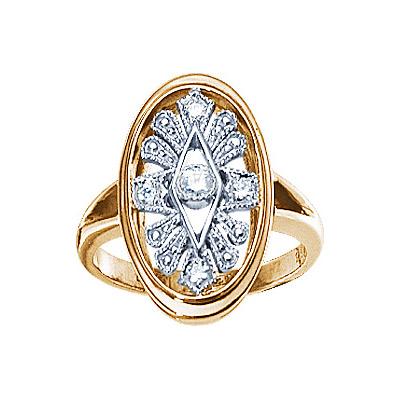 Золотое кольцо Ювелирное изделие 17985RS кольцо алмаз холдинг женское золотое кольцо с бриллиантами и рубином alm13237661 19