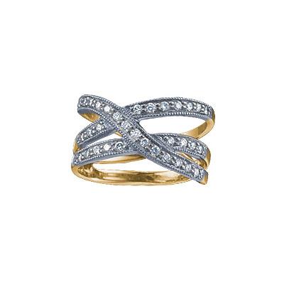 Золотое кольцо Ювелирное изделие 18036RS кольцо алмаз холдинг женское золотое кольцо с бриллиантами и рубином alm13237661 19