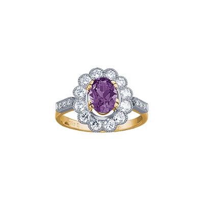 Золотое кольцо Ювелирное изделие 18067RS кольцо алмаз холдинг женское золотое кольцо с бриллиантами и рубином alm13237661 19