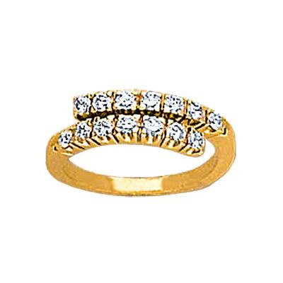 Золотое кольцо Ювелирное изделие 18258RS кольцо алмаз холдинг женское золотое кольцо с бриллиантами и рубином alm13237661 19