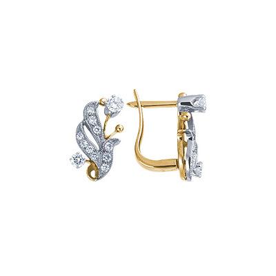 Золотые серьги Ювелирное изделие 18451RS