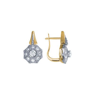 Золотые серьги Ювелирное изделие 18452RS серьги jv золотые серьги с бриллиантами e20070c db wg