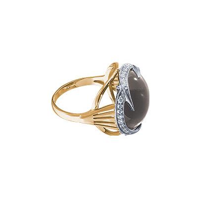 Золотое кольцо Ювелирное изделие 18602RS кольцо алмаз холдинг женское золотое кольцо с бриллиантами и рубином alm13237661 19