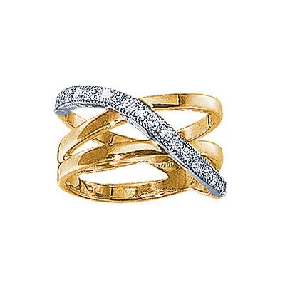Золотое кольцо Ювелирное изделие 18640RS кольцо эстет женское золотое кольцо с куб циркониями nd1141393 17