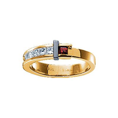 Золотое кольцо Ювелирное изделие 18824RS кольцо алмаз холдинг женское золотое кольцо с бриллиантами и рубином alm13237661 19