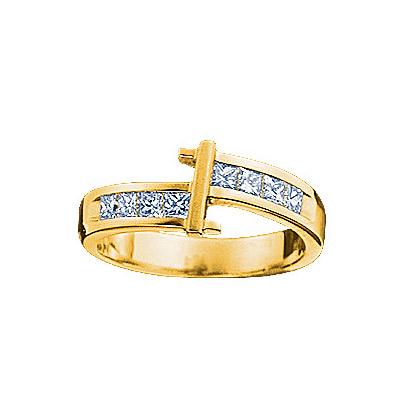 Золотое кольцо Ювелирное изделие 18827RS кольцо алмаз холдинг женское золотое кольцо с бриллиантами и рубином alm13237661 19