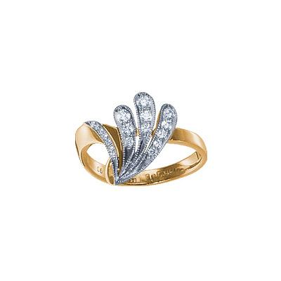 Золотое кольцо Ювелирное изделие 18842RS кольцо алмаз холдинг женское золотое кольцо с бриллиантами и рубином alm13237661 19