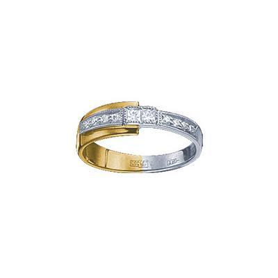Золотое кольцо Ювелирное изделие 18993RS кольцо алмаз холдинг женское золотое кольцо с бриллиантами и рубином alm13237661 19