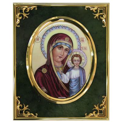 Серебрянная икона Ювелирное изделие 34011RS икона галерея благолепия икона богородицы казанская гранат 6 юл 04