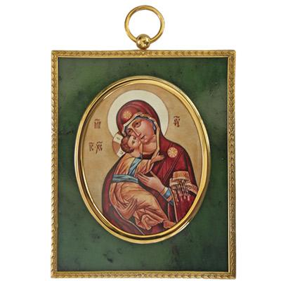 Серебрянная икона Ювелирное изделие 34891RS