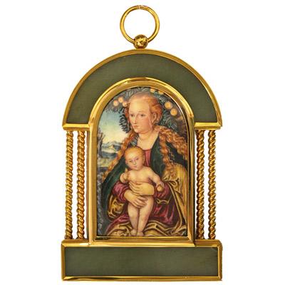 Серебрянная икона Ювелирное изделие 34924RS