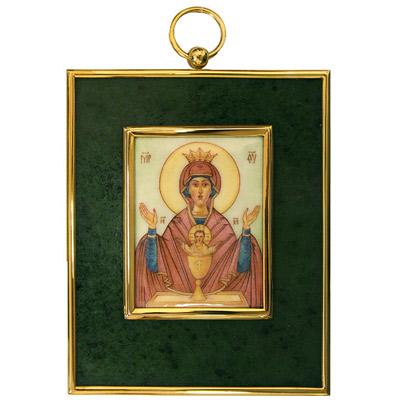 Серебрянная икона Ювелирное изделие 34942RS икона янтарная неупиваемая чаша иян 2 313