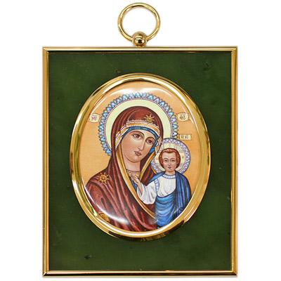 Серебрянная икона Ювелирное изделие 34945RS икона галерея благолепия икона богородицы казанская гранат 6 юл 04