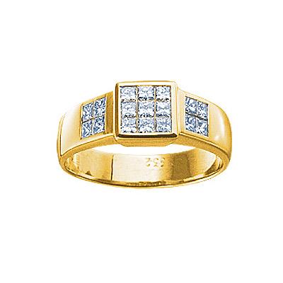 Золотое кольцо Ювелирное изделие 61544RS кольцо алмаз холдинг женское золотое кольцо с бриллиантами и рубином alm13237661 19