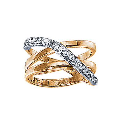 Золотое кольцо Ювелирное изделие 71027RS кольцо эстет женское золотое кольцо с куб циркониями nd1141393 17