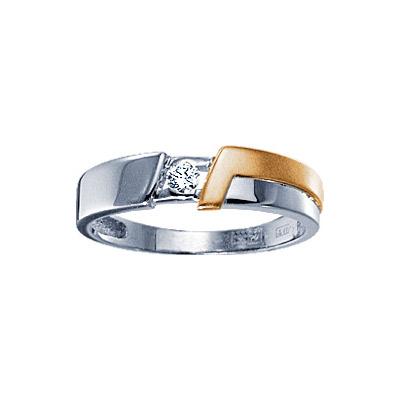 Золотое кольцо Ювелирное изделие 71068RS кольцо алмаз холдинг женское золотое кольцо с бриллиантами и рубином alm13237661 19
