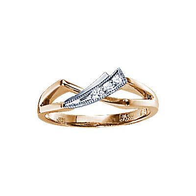 Золотое кольцо Ювелирное изделие 71112RS кольцо алмаз холдинг женское золотое кольцо с бриллиантами и рубином alm13237661 19