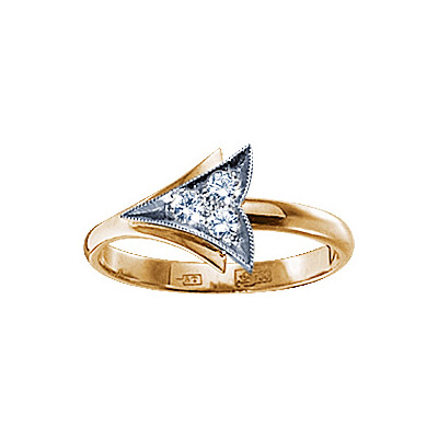 Золотое кольцо Ювелирное изделие 71129RS кольцо алмаз холдинг женское золотое кольцо с бриллиантами и рубином alm13237661 19