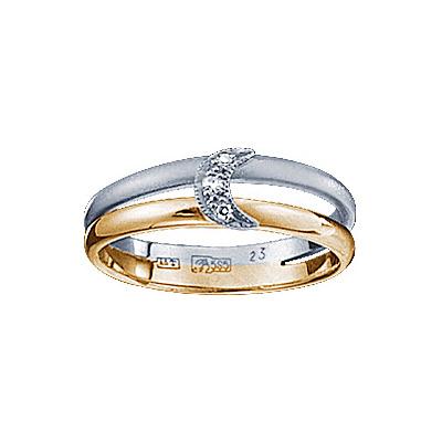 Золотое кольцо Ювелирное изделие 71201RS кольцо алмаз холдинг женское золотое кольцо с бриллиантами и рубином alm13237661 19