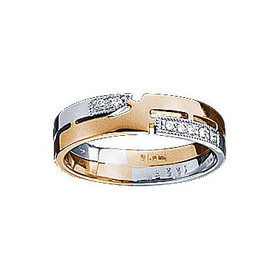 Золотое кольцо Ювелирное изделие 71211RS кольцо алмаз холдинг женское золотое кольцо с бриллиантами и рубином alm13237661 19