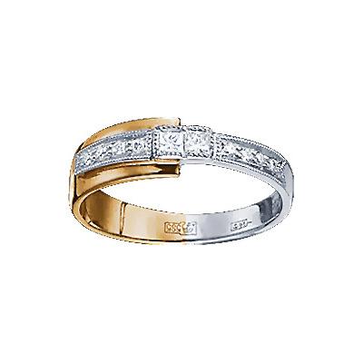 Золотое кольцо Ювелирное изделие 71214RS кольцо алмаз холдинг женское золотое кольцо с бриллиантами и рубином alm13237661 19