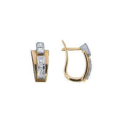 Золотые серьги Ювелирное изделие 71216RS серьги jv золотые серьги с бриллиантами e20070c db wg
