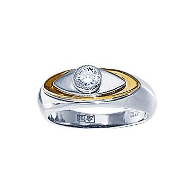Золотое кольцо Ювелирное изделие 71229RS кольцо алмаз холдинг женское золотое кольцо с бриллиантами и рубином alm13237661 19